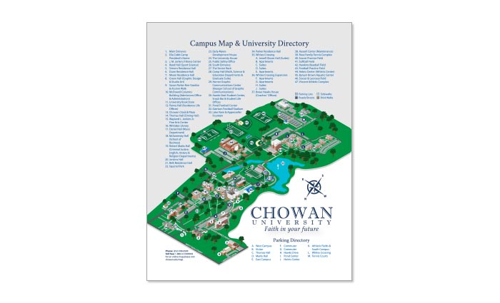 Chowan University Campus Map