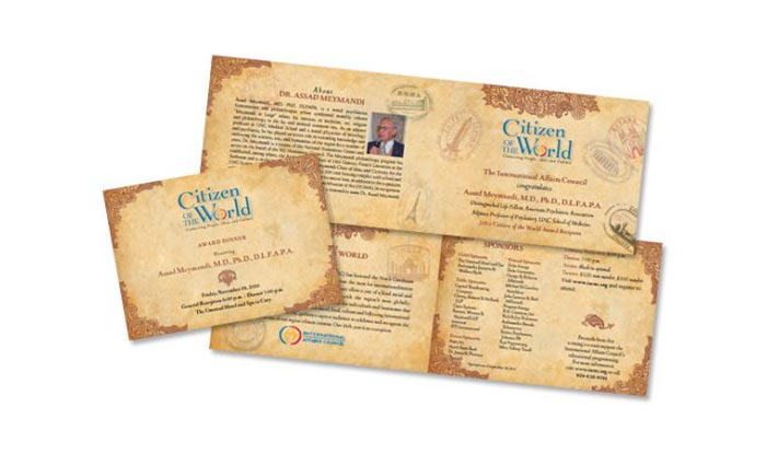 Citizen of the World Invite design