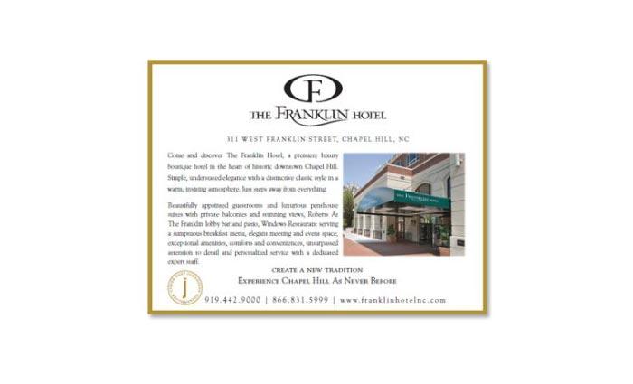 Franklin Hotel Ad Design