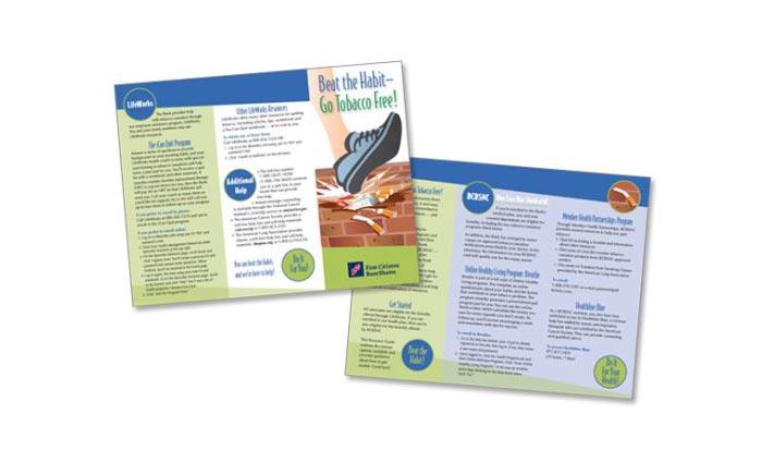 Be the Habit Brochure Design