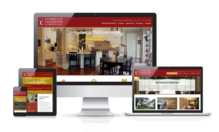 New Website Design Complete Construction Company